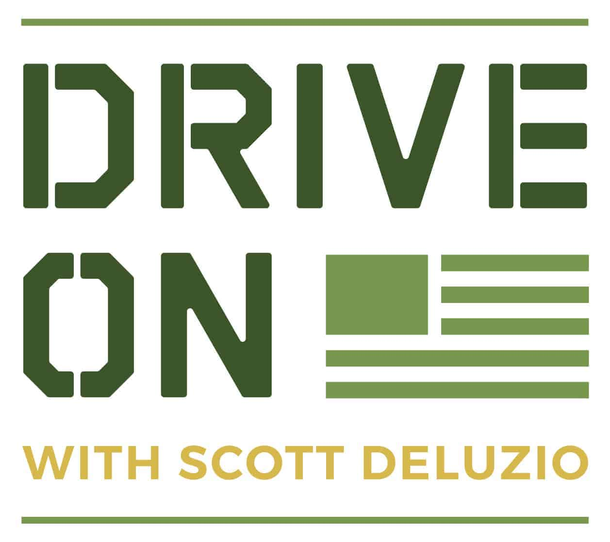 Drive On Podcast Primary Colored Solid Logo White Background