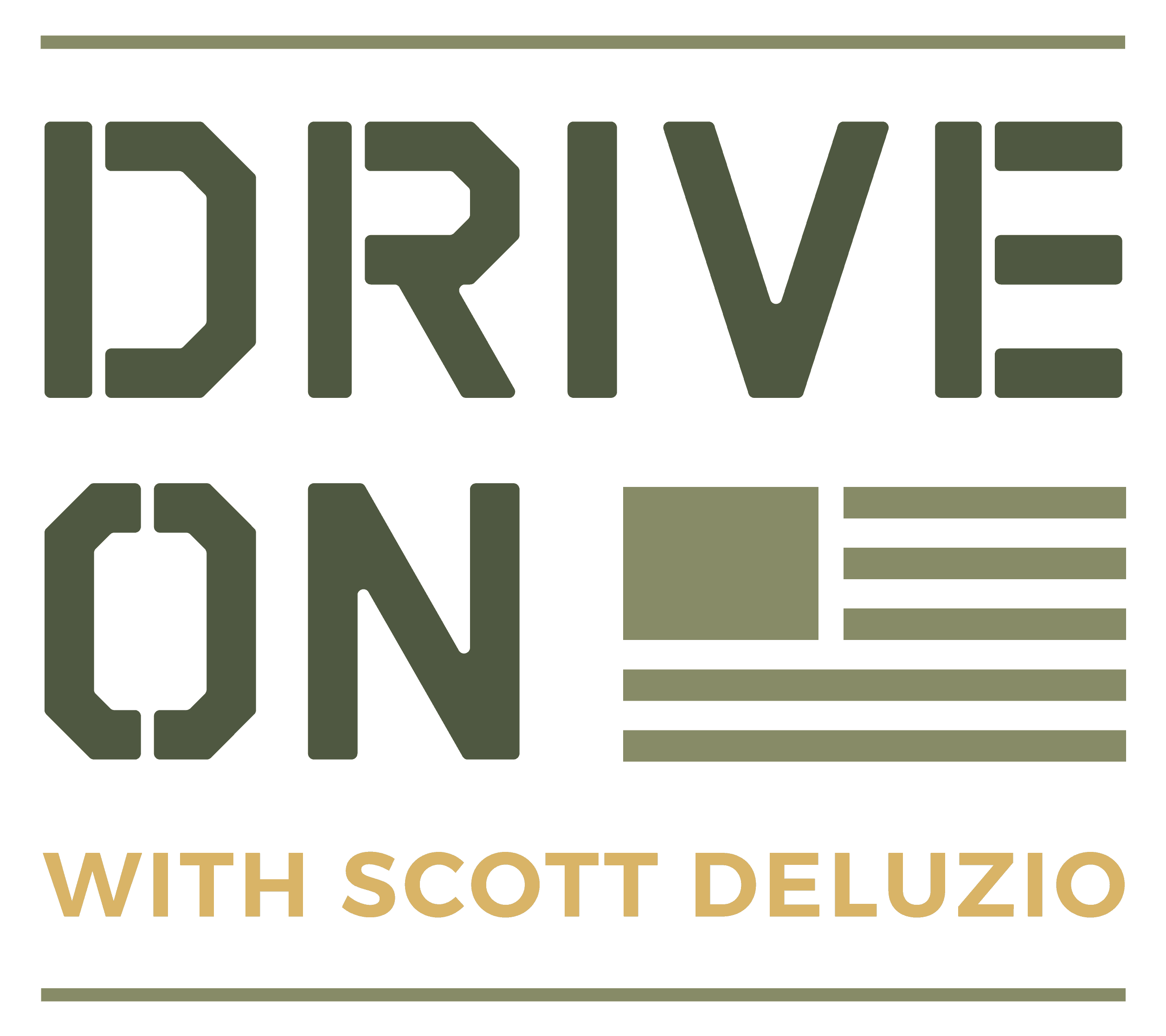Drive On Podcast Primary Colored Solid Logo