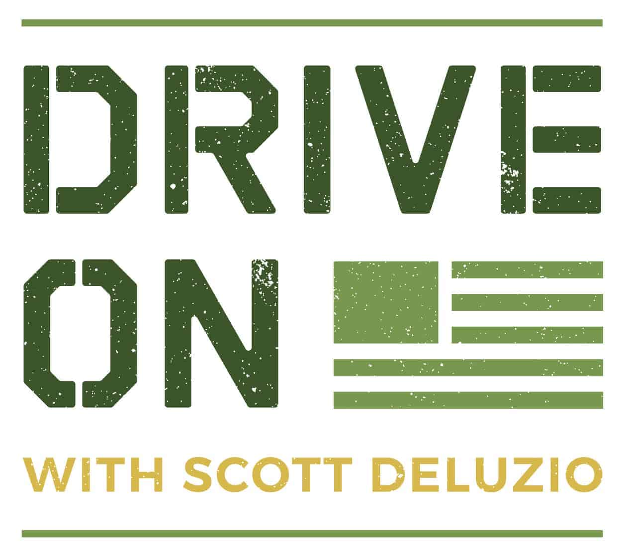 Drive On Podcast Primary Colored Textured Logo White Background